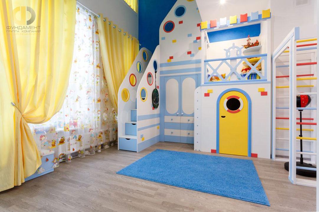 Дорогой ремонт в детской комнате в морском стиле