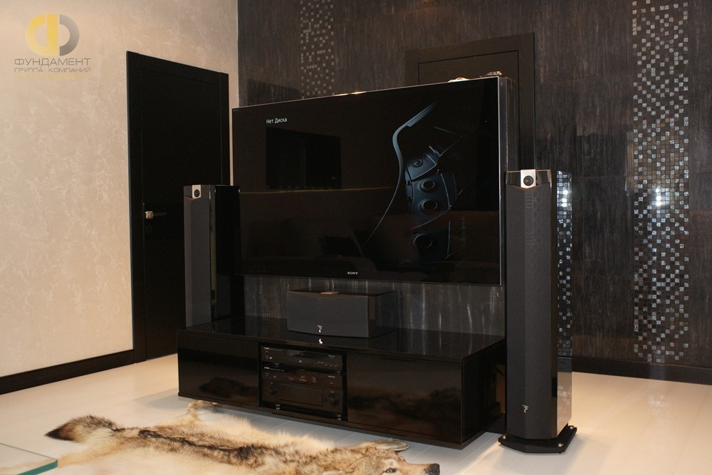ТВ-зона в минималистичной гостиной