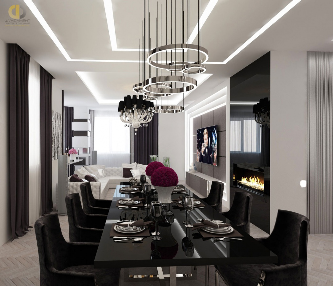 Красивый дизайн интерьера в стиле ар-деко
