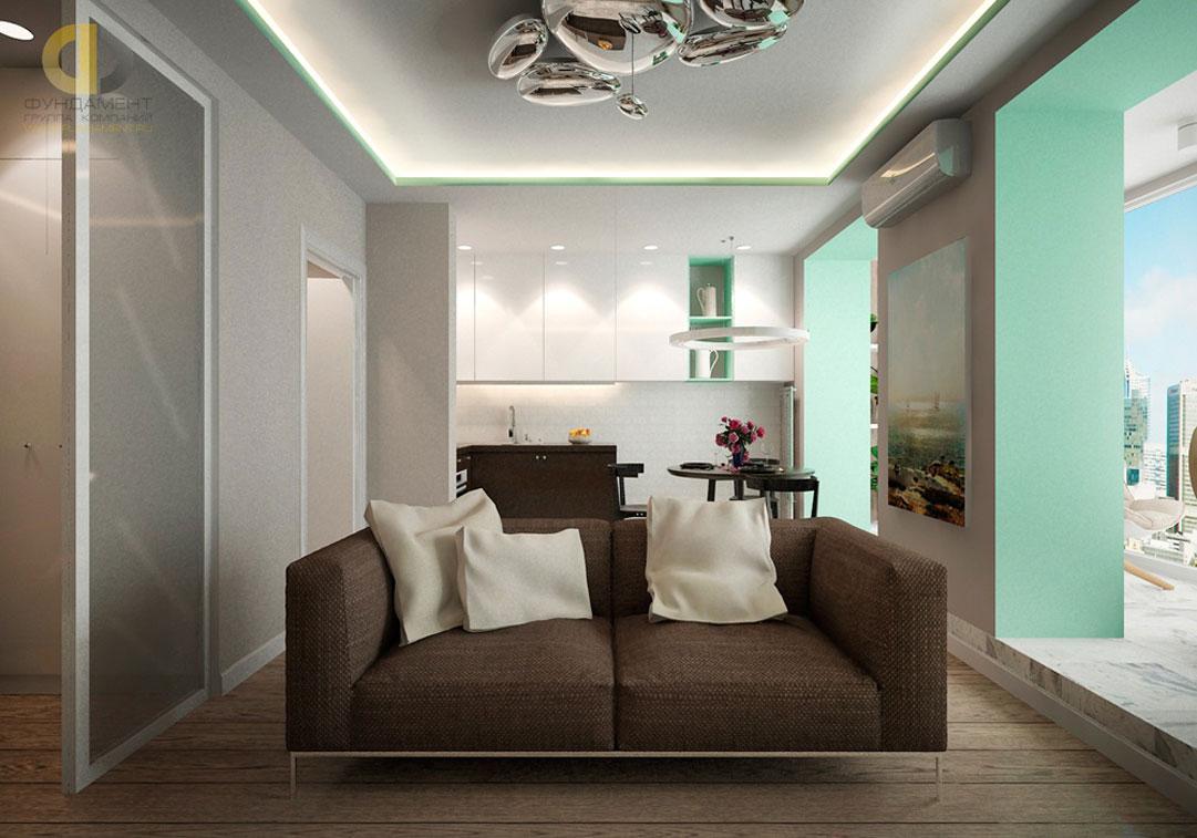 Интерьер гостиной комнаты в современном стиле. Фото 2018