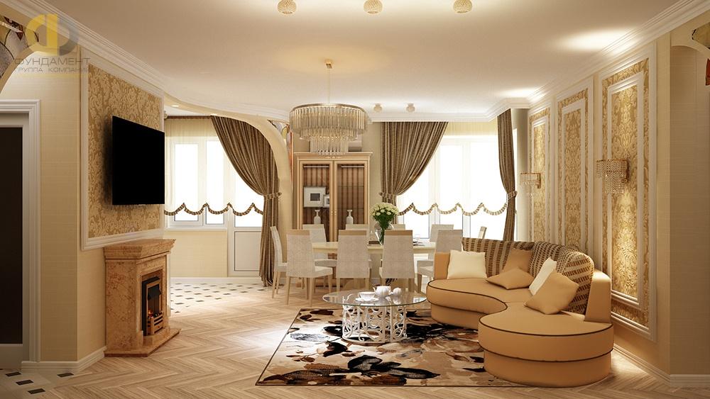Дизайн гостиной. Ар-деко и классика