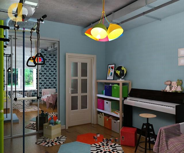 Дизайн детской комнаты для девочки. Фото интерьера с пианино