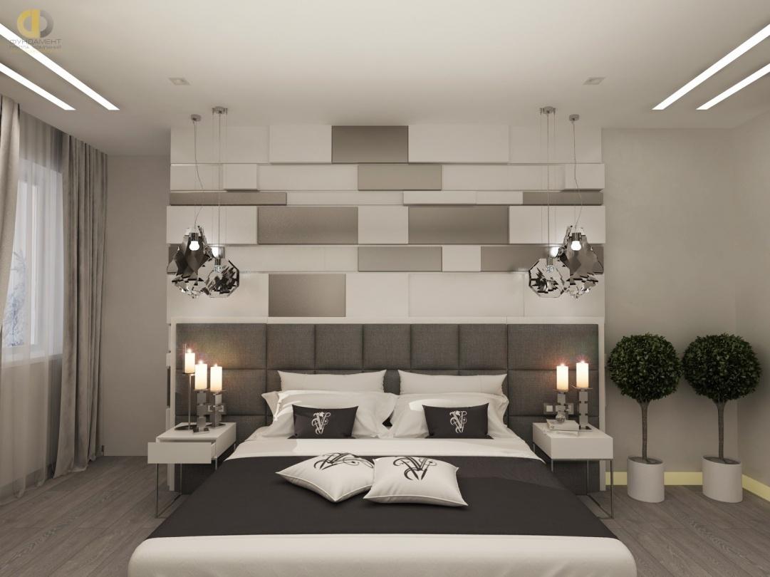 Дизайн помещений трехкомнатной квартиры в ЖК «Эдельвейс» – спальня