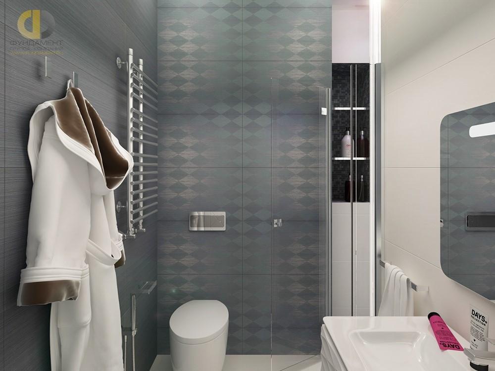 Интерьер ванной комнаты в ЖК «Форт Кутузов»