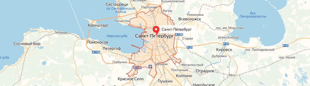 Санкт-Петербург на карте
