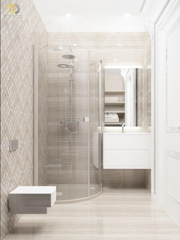 Интерьер ванной комнаты в ЖК «Садовые Кварталы»