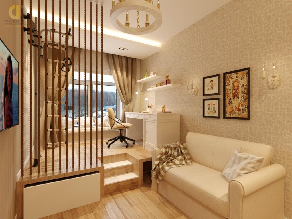 Интерьер комнаты в современном стиле в квартире. Фото 2018