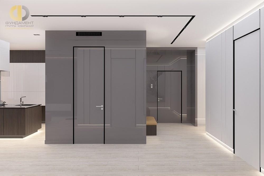Дизайн интерьера коридора с отделкой стен панелями