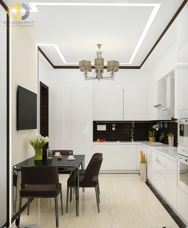 Современный стиль в интерьере белой кухни