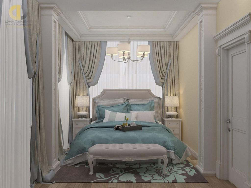 Спальня в классическом стиле в коттедже