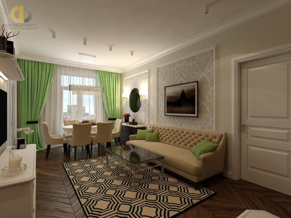 Дизайн гостиной в Москве 2018 года