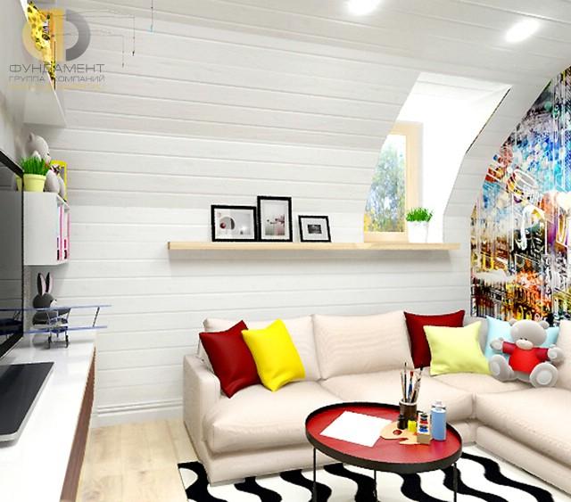 Дизайн спальни детской комнаты для девочки. Фото интерьера с яркими акцентами