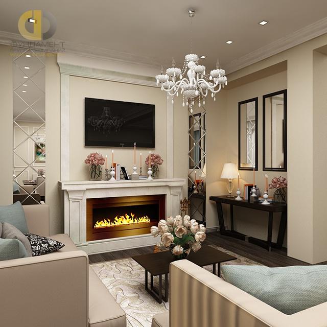 Фото интерьера маленькой гостиной с электрокамином камины электрические dimplex optimist