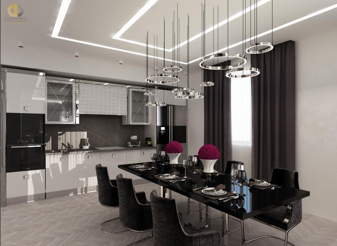 Дизайн помещений трехкомнатной квартиры в ЖК «Эдельвейс» – кухня