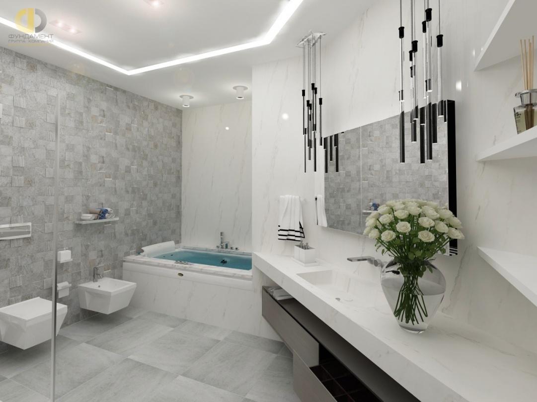 Дизайн помещений трехкомнатной квартиры в ЖК «Эдельвейс» – ванная комната