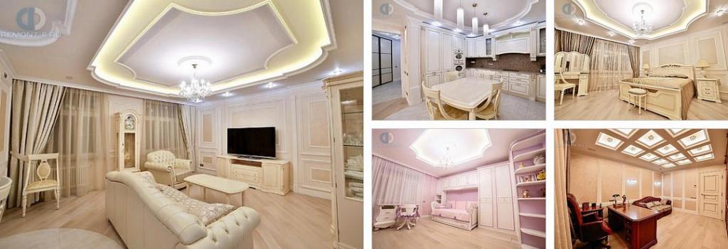 4-комнатная квартира 150 кв. м в стиле неоклассика после ремонта под ключ