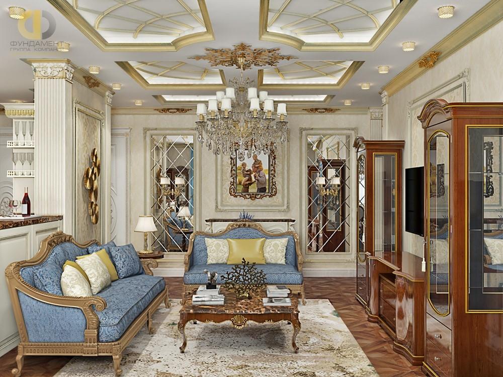 Классический стиль в дизайне гостиной