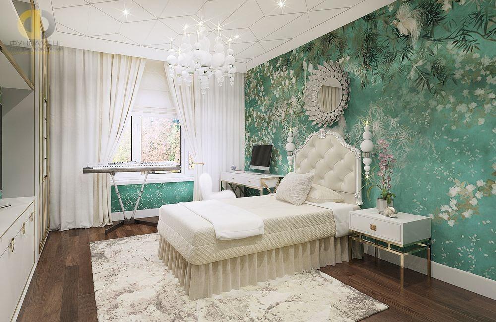 Детская комната в стиле ар-деко для девочки-подростка. Фото 2018