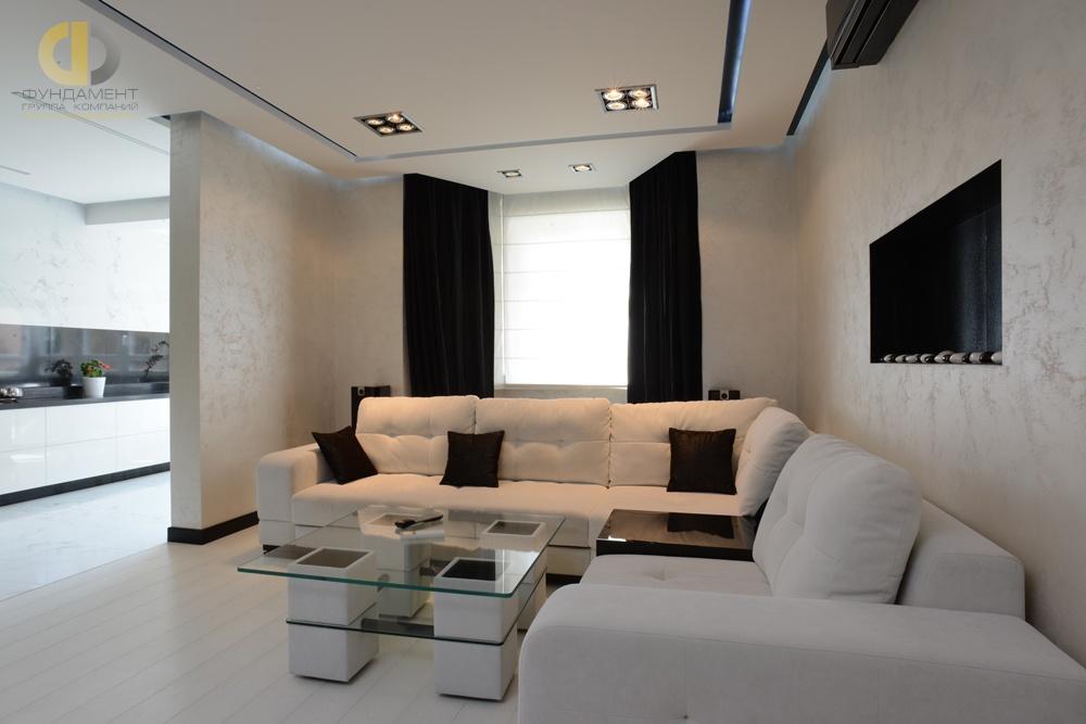 Интерьер квартиры в новостройке в стиле минимализм. Проект из портфолио ГК «Фундамент»