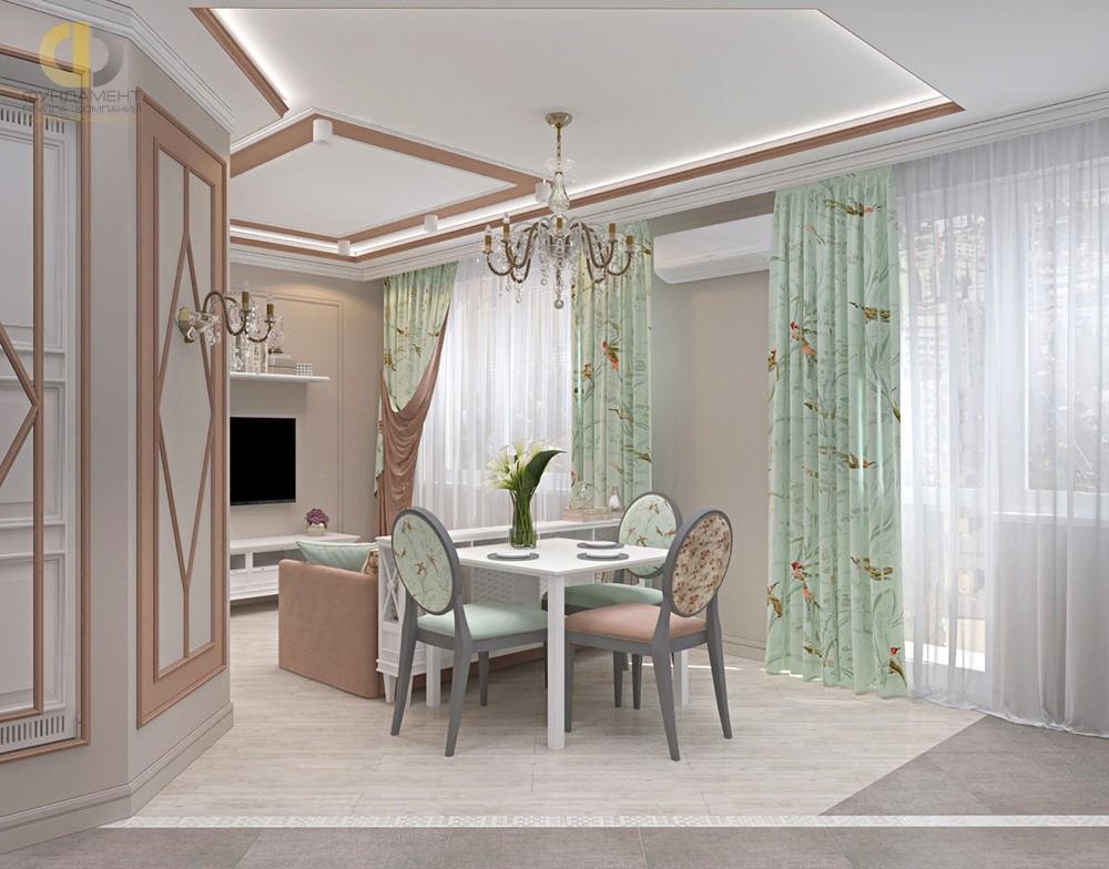 Интерьер гостиной-столовой в ЖК «07»
