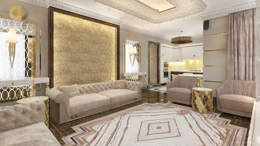 Дизайн гостиной комнаты в духе ар-деко