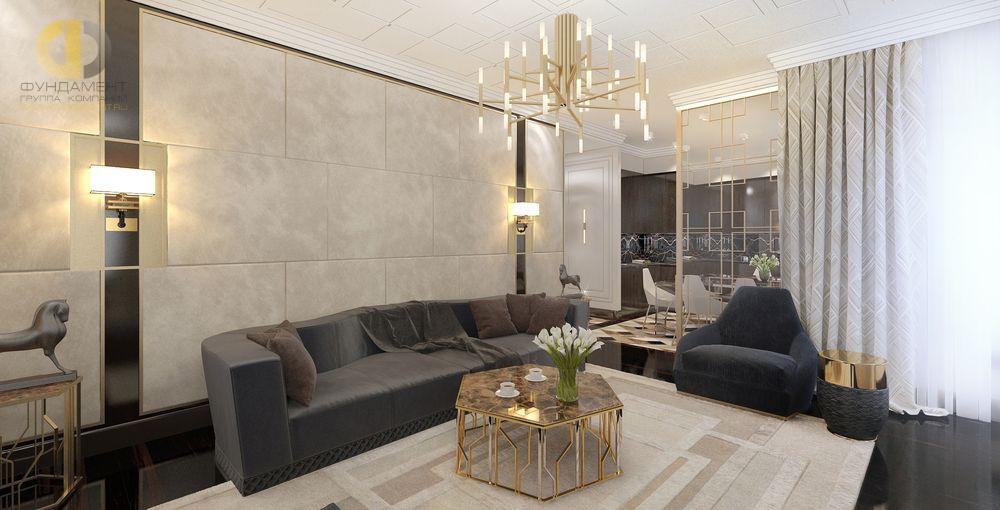 Ар-деко в дизайне гостиной
