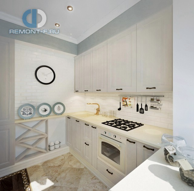 Маленькая кухня в квартире в стиле прованс