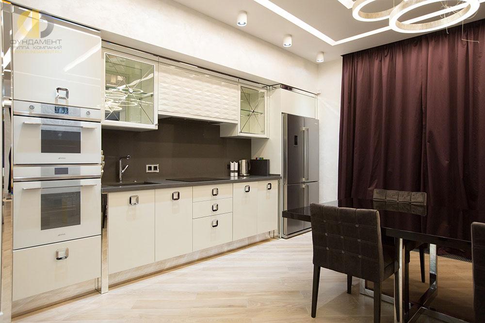 Дизайн кухни 2018 в стиле арт-деко в ЖК «Эдельвейс»