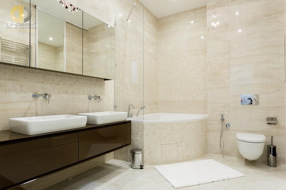 Интерьер ванной комнаты в ЖК «Грюнвальд»