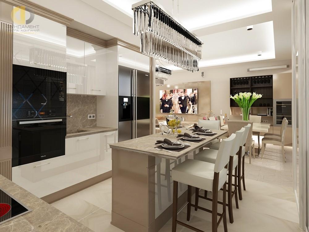 Дизайн кухни- гостиной